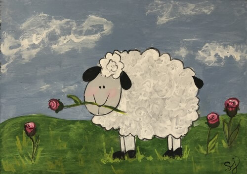 sheldon the sheep painting